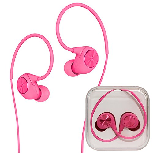 Letv In-Ear Earbuds Heaphones Headset Stereo Deep Bass 3.5mm Jack with Mic Microphone for LeEco,iPhone,iPad,Samsung Galaxy & most smartphones and Tablet (Pink)