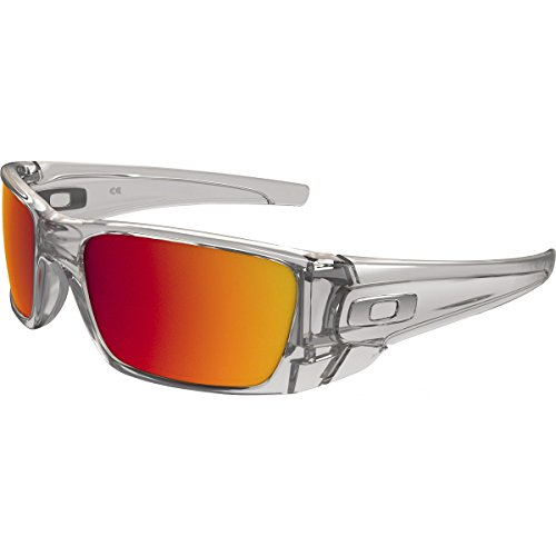 Oakley Fuel Cell Rectangular Sunglasses, Polished Clear w/Torch Iridium, 60 - Prescription Sunglasses Oakley