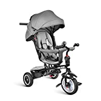 besrey Kid Trike 7 in 1 Baby Tricycle Stroller with Push Handle, Rear Facing Seat, Rubber Wheels, for Toddler Boys/Girls, 7 Months - 6 Years