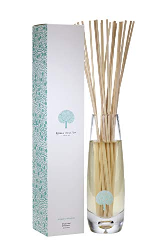 ROYAL DOULTON Luxury Reed Diffuser & Glass Vase Set - Reed Sticks. Long Lasting Natural Scented (6+ Months) 500 ml / 16.5 oz - Ylang Ylang & Tuberose