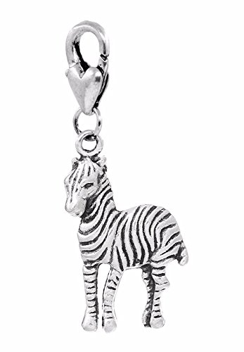 Safari Animal Charms - OutletBestSelling Jewelry Making Supply Zebra Zoo African Safari Wild Animal Park Clip On Dangle Charm for Bracelets