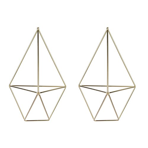 - Pack of 2 Geometric Hanging Air Plants Rack Holder Triangle Flower Container Basket for Home Decor