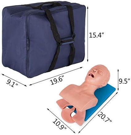 SHRFC Maniquí de intubación, PVC Maniquí de intubación para Adultos Modelo de enseñanza Entrenador de gestión de vías aéreas Modelo de Laboratorio de Ciencias Educación: Amazon.es: Hogar