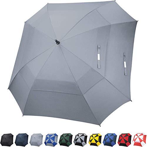 G4Free Extra Large Golf Umbrella Double Canopy Vented Square Umbrella