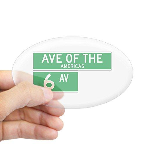 CafePress - 6Th Ave., New York - USA Oval Sticker - Oval Bumper Sticker, Euro Oval Car - Ave 6th Manhattan