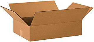 "product image for Partners Brand P2014475PK Flat Corrugated Boxes, 20"" L x 14"" W x 4"" H, Kraft (Pack of 75)"