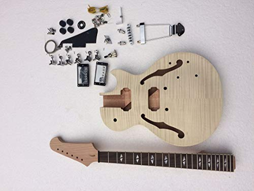 SEMI-HOLLOW JAZZ DIY ELECTRIC GUITAR KITS WITH ALL THE PARTS