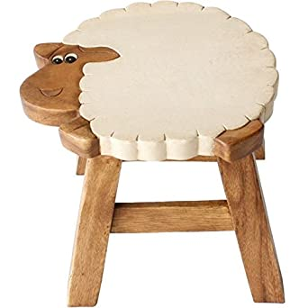 Miraculous Ethically Sourced Childrens Wooden Stool Sheep Design Gmtry Best Dining Table And Chair Ideas Images Gmtryco