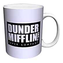 Dunder Mifflin (The Office) World's Best Boss TV Television Show Ceramic Gift Coffee (Tea, Cocoa) 11 Oz. Mug