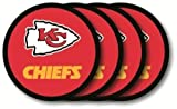 Kansas City Chiefs Vinyl Coaster Set (4) Brand New in Package by Duckhouse NFL