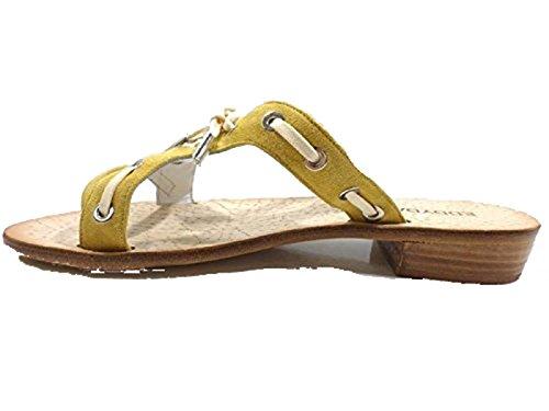 Zapatos Mujer EDDY DANIELE 37 EU Sandalias Amarillo Gamuza AW333 / AW334