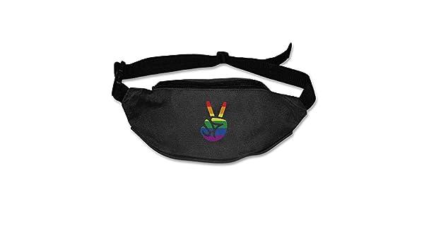 a2abd0059320 Amazon.com: Yahui LGBT Made A V Victory Sign Waist Bag Fanny Pack ...