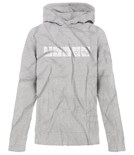 Price comparison product image BSW Youth Girls Cyborg Periodic Table Cybernetic organism Beast Hoodie SM Grey