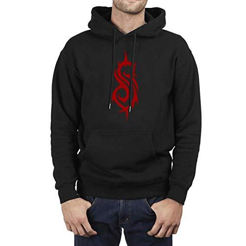 Long Sleeve Fleece Heavy-Metal-Slipknot-Band-Nu- Mens Hooded Sweatshirt