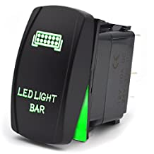 Safego LED Light Bar 5Pin Rocker Switch ON-Off Auto Car Lamp Light 12V 20A Green RS-Llb-G