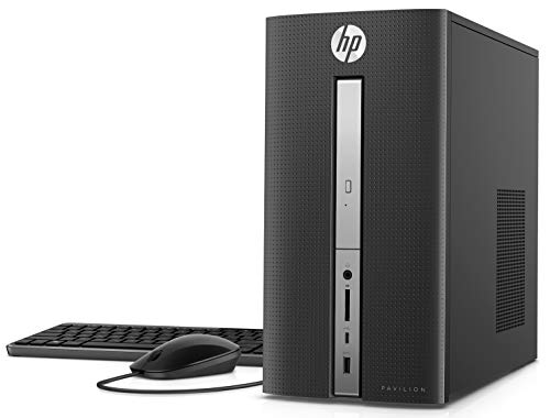 HP Pavilion High Performance Desktop Computer PC, Intel Core i5-7400 Quad-Core Processor, 8GB DDR4 RAM, 1TB HDD, DVD WiFi HDMI VGA, USB Wired Keyboard & Optical Mouse, Windows 10 – Optional 128GB SSD