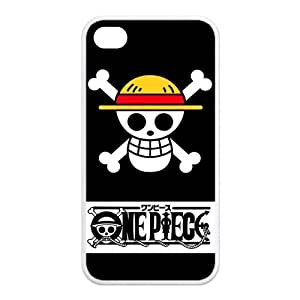 Fashiondiy Japanese Anime One Piece The Straw Hat Pirates Flag Customized Design Apple Iphone 4/4S Best Rubber Case Cover by mcsharks