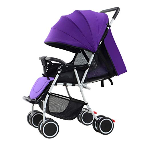 YRYRGXQ Lightweight Portable Folding Stroller with Storage Basket Can Be Split for Four Seasons, Suitable for 0~3 Year Old Baby