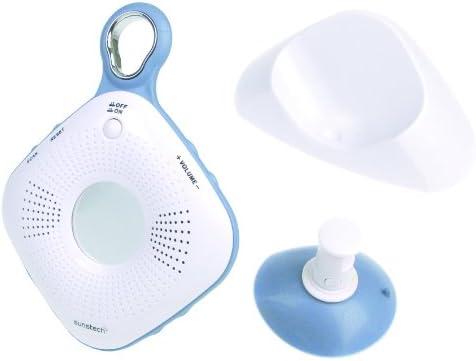 Radio portatil de ducha con espejo incluye ventosa color blanco//azul Sunstech RPSW20WT