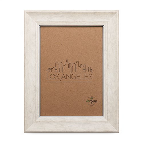 5x7 Picture Frame Ivory Silver - Mount Desktop Display, Frames by EcoHome