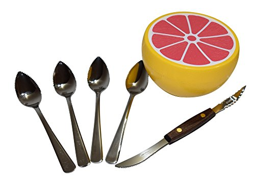 Grapefruit spoons (4), Knife, and Keeper Set