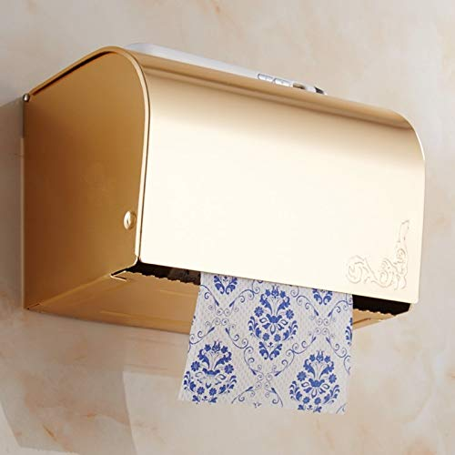 Best Quality golden antique space aluminum bathroom paper towel rack box holder polished wall mount towel bathroom accessories rd10