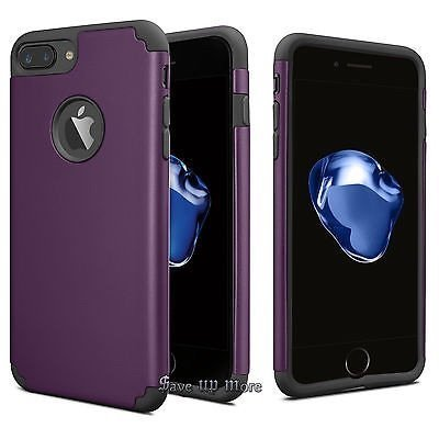 Price comparison product image iPhone 8/7 Plus Thin Case, HLCT Slim Hybrid Dual-Layer Case for iPhone 8/7 Plus (Purple)