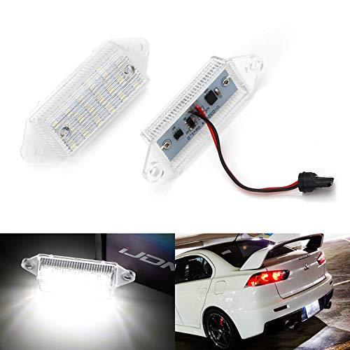iJDMTOY OEM-Fit 3W Full LED License Plate Light Kit For 2003-17 Mitsubishi Lancer & Evolution X, Powered by 18-SMD Xenon White LED