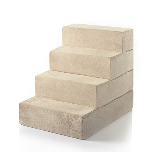 Zinus 4 Step Comfort Pet Stairs/Pet Ramp/Pet Ladder, Large ()