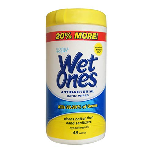 Wet Ones Citrus Scent Antibacterial Moist Wipes 40 ct (Pack of 12) ()
