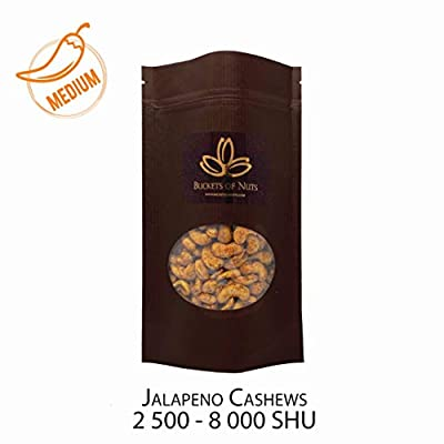 Jalapeno Cashews PREMIUM HAND ROASTED 2,500-8,000 Scoville Heat Units, Gluten free & Dairy free