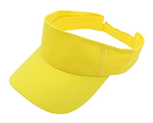 Top Level Sun Sports Visor Men Women - 100% Cotton One Size Cap Hat,YEL