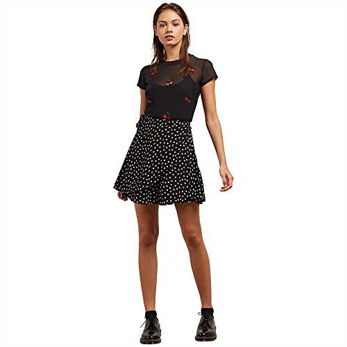 Volcom Junior's April March High Waist Wrap Mini Skirt, Dot, L