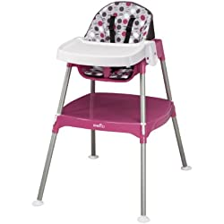Evenflo Convertible High Chair, Dottie Rose