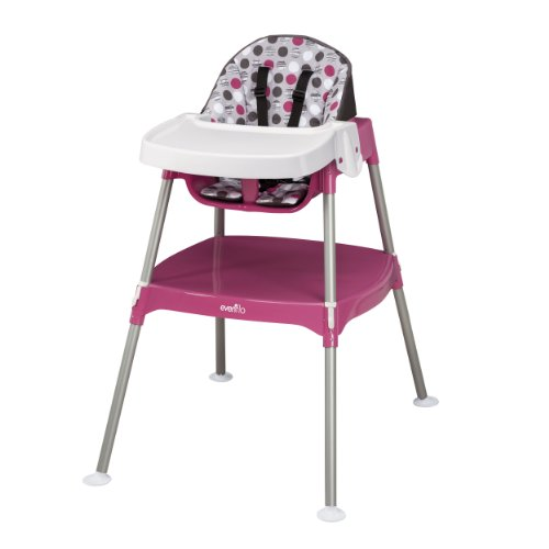 Right Convertible - Evenflo Convertible High Chair, Dottie Rose
