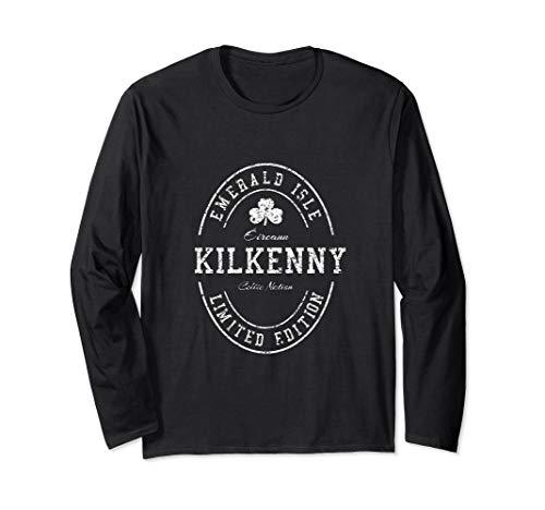 (KILKENNY Ireland Vintage Irish Souvenir Long Sleeve T-Shirt)