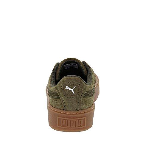 Puma Dame Kurv Platform Metallisk Sneaker Oliven Nat-sølv j9QNZOU