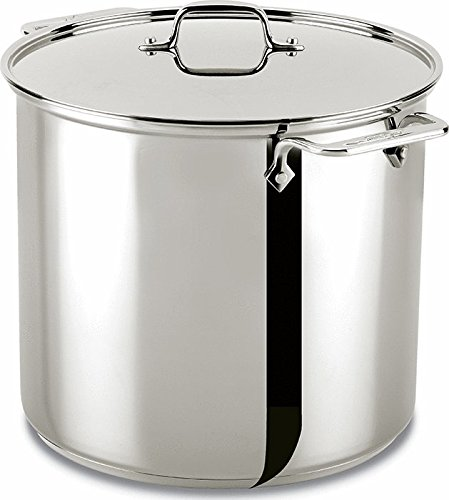 All-Clad 59916 Stainless Steel Dishwasher Safe Stockpot Cookware, 16-Quart, Silver by All-Clad