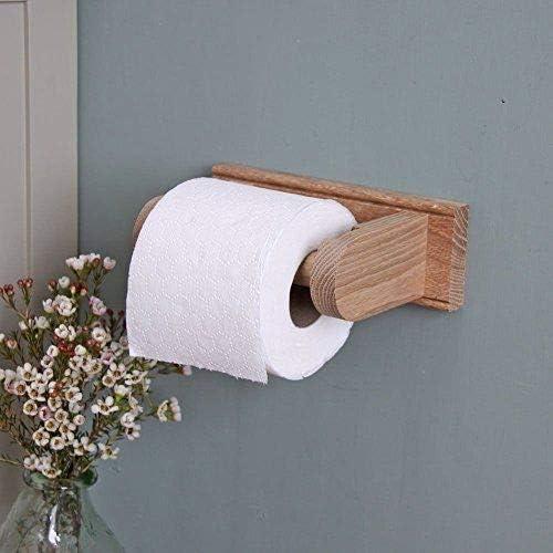 Oak Toilet Roll Holder