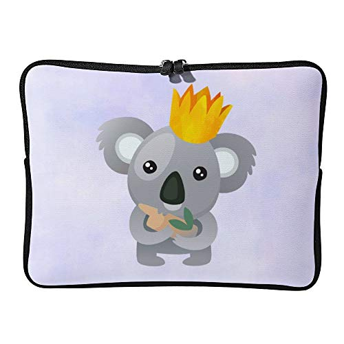 Laptop Sleeve Water Repellent Neoprene Bag Protective Case Cover Compatible with MacBook Pro/Asus/Dell/Hp/Sony/Acer 17 Inch, Cute Koala in a Golden Crown -  Elvoes, Elv-g825uatg-5