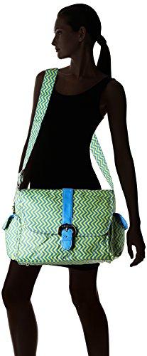 Kalencom Messenger Buckle Diaper Bag, Wiggly Stripes Beach
