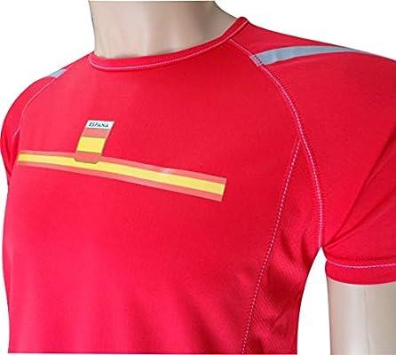 EKEKO SPORT Camiseta ESPAÑA Manga Corta DE Running, Padel, Senderismo, Tenis,Color Rojo (M): Amazon.es: Deportes y aire libre