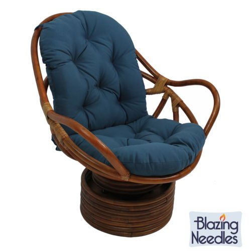 Swivel Rocker Cushions Blazing Needles Twill Royal Blue