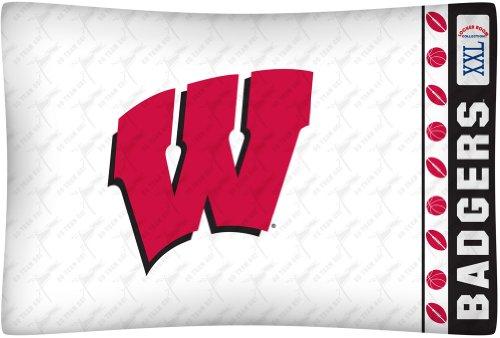 (NCAA Wisconsin Badgers Micro Fiber Pillow Case Logo)