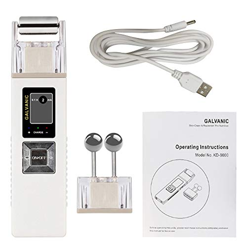 Galvanic Facial Machine Portable Professional Galvanic Microcurrent Skin Firming Machine with Case Anti-aging Galvanic Roller Skin Care Spa for Salon and Home Use, Shipping from USA