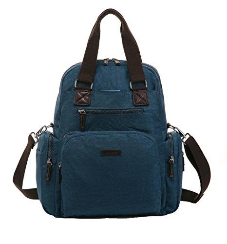 Landuo - Bolsa de hombro para pañales, tamaño mediano, 9colores morado morado lake blue
