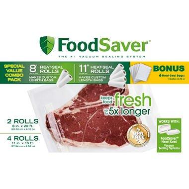 foodsaver combo pack bags - 6