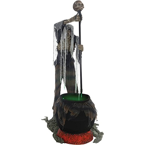 Cauldron Creeper Animated Halloween Decoration