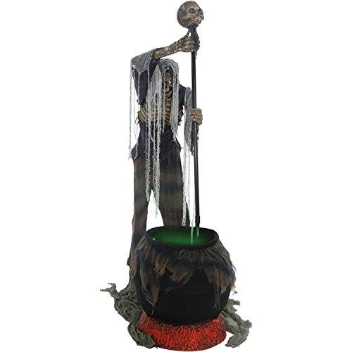 Cauldron Creeper Animated Halloween Decoration]()