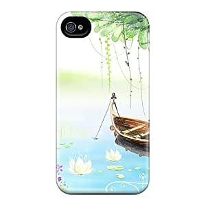 Slim Fit Tpu Protector Shock Absorbent Bumper 3d Lake Cases For Iphone 6 Plus